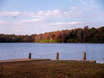 The beautiful fall colors at Lake Jean.