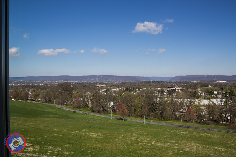 View of Harrisburg and the Surrounding Countryside from the National Civil War Museum Second Level Observatory (©simon@myeclecticimages.com)