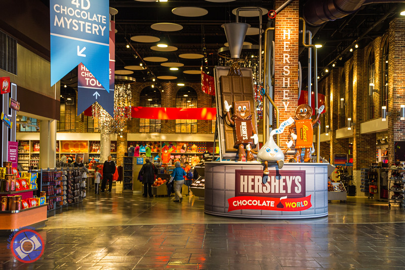 Entrance Lobby to Hershey's Chocolate World (©simon@myeclecticimages.com)