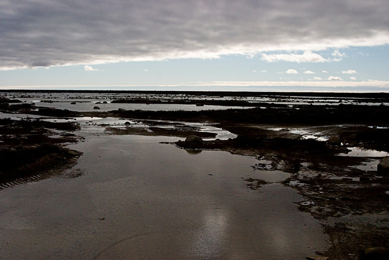 <center>View of the Tidal Flats  <br><br>Churchill, Manitoba, Canada</center>