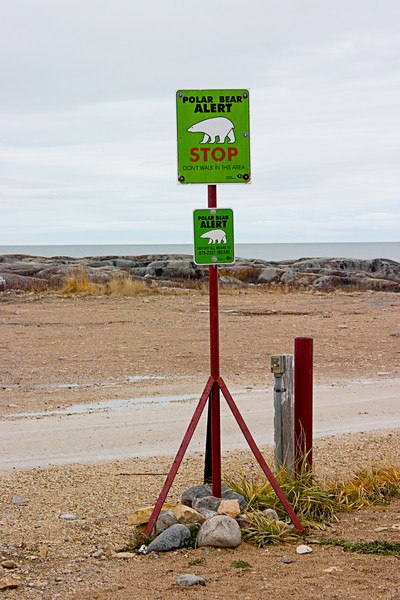 <center>Alert Signs in Churchill  <br><br>Churchill, Manitoba, Canada</center>