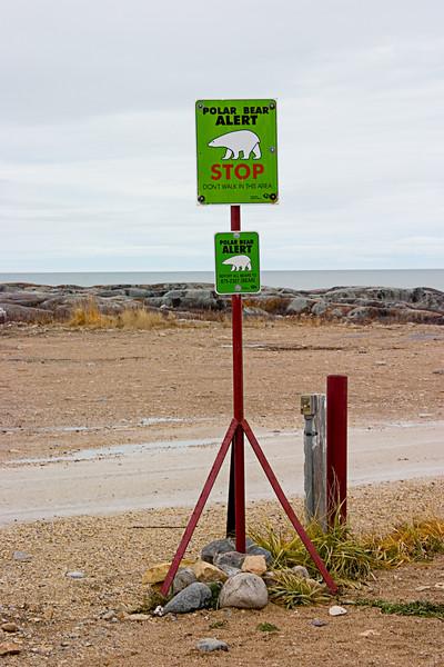 <center>Alert Signs in Churchill  <br><br>Churchill, Manitoba, Canada</center>
