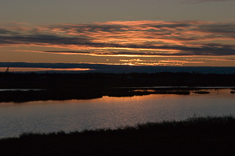 <center>Into the Sunset  <br><br>Churchill, Manitoba, Canada</center>