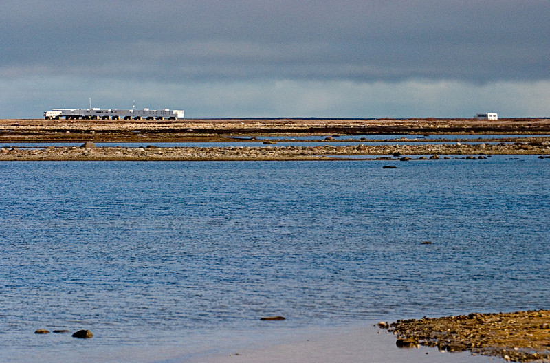 <center>Lodge and Approaching Buggy  <br><br>Churchill, Manitoba, Canada</center>