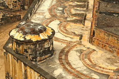 Intricate stone work at Castillo San Felipe del Morro