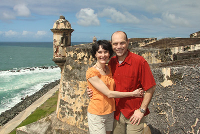 Celebrating our 15th anniversary with breath-taking views at the Castillo San Felipe del Morro!