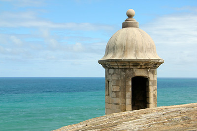 Looking out over the Atlantic Ocean from one of the towers of Castillo San Felipe del Morro