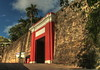The Puerta de San Juan (San Juan Gate) was built in the late 1700s.<br /> It is one of six heavy wooden doors in the wall which for centuries were closed at sundown to cut off access to the city and protect the city from invaders. The wall is up to 20 feet thick and up to 40 feet tall.