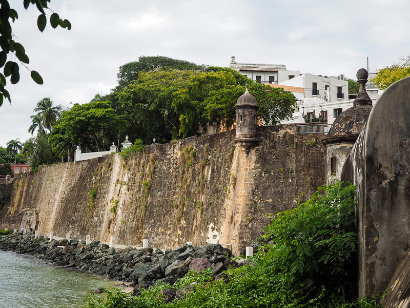 San Juan old city walls