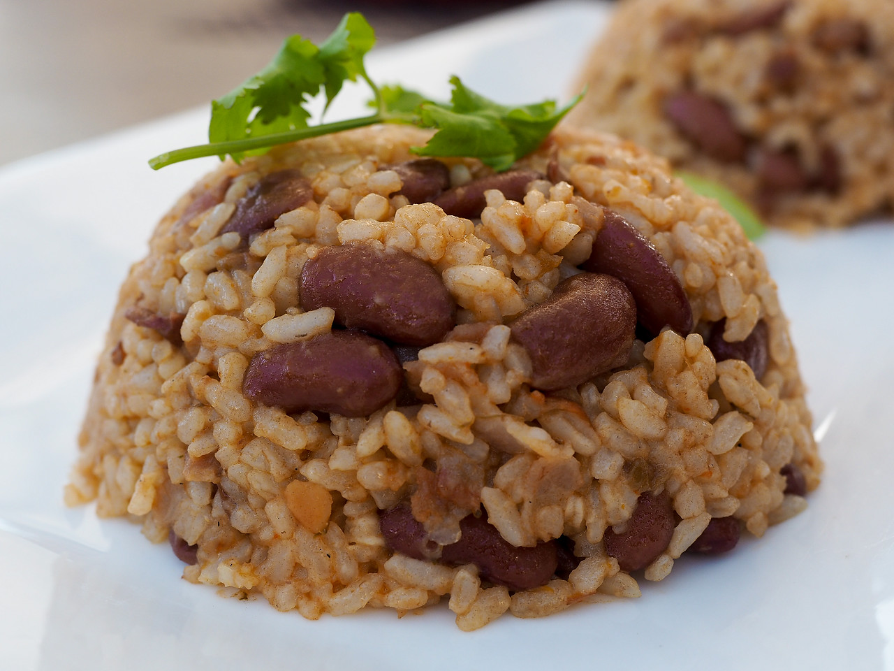 Rice and beans in Puerto Rico