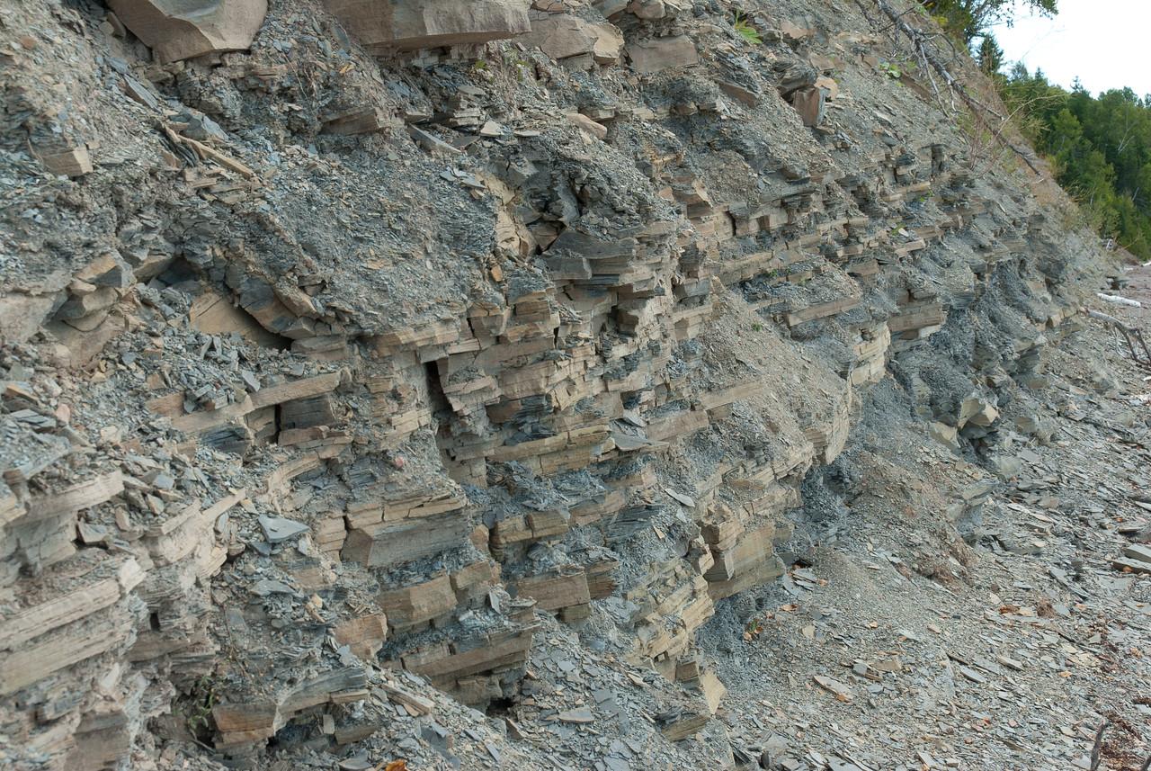 Cliffs of Miguasha National Park in Quebec, Canada