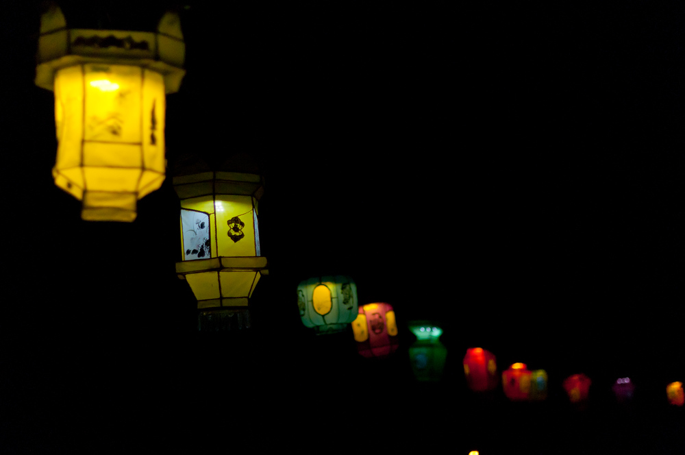 Chinese lanterns at Botanical Garden, Montreal, Quebec