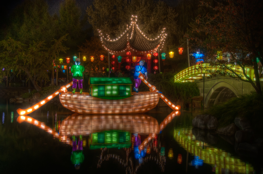 Lantern festival at the Montreal Botanical Garden
