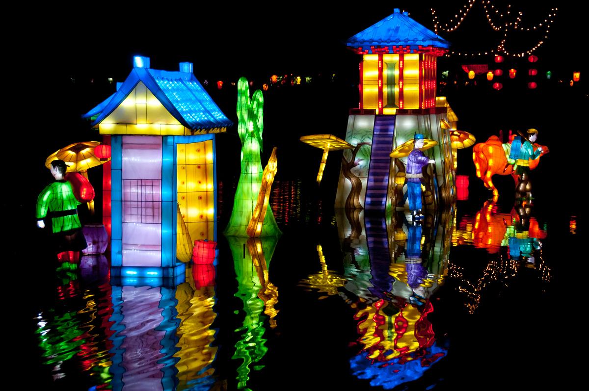 Chinese lanterns at the Montreal Botanical Gardens, Quebec