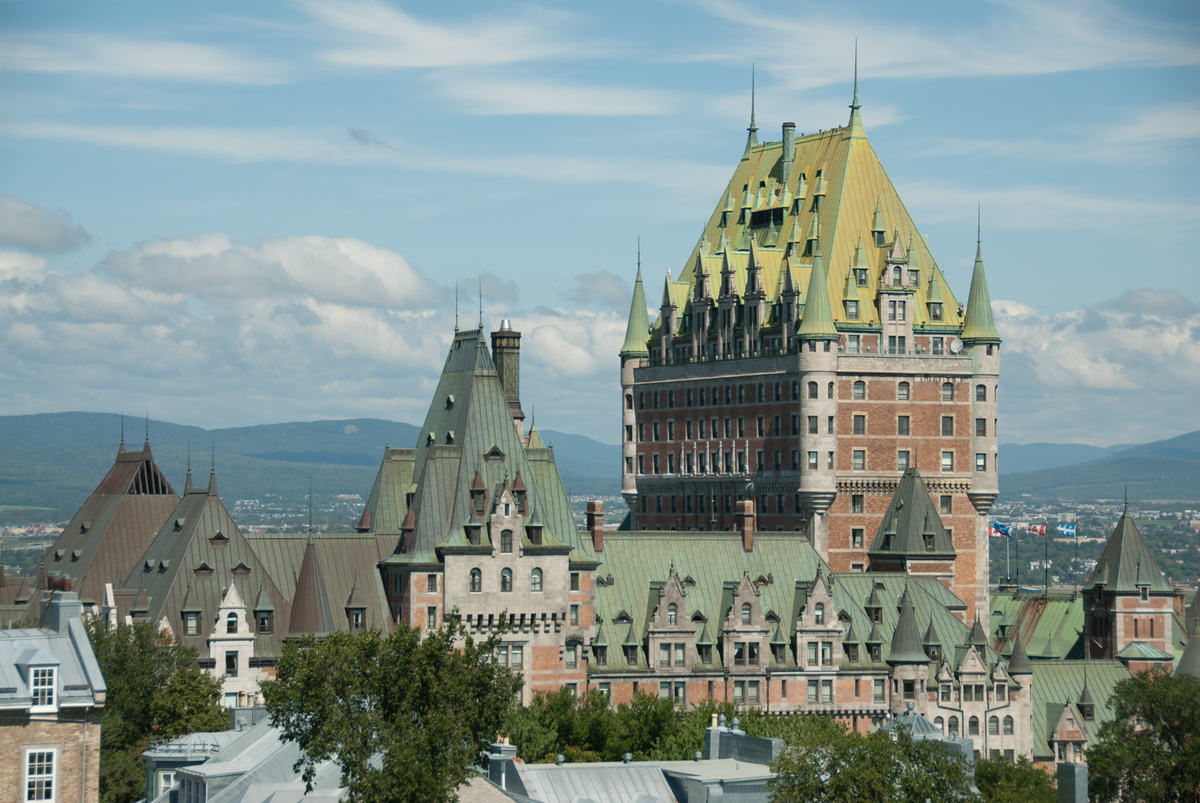 The Chateau Frontenac in Quebec City, Quebec, Canada