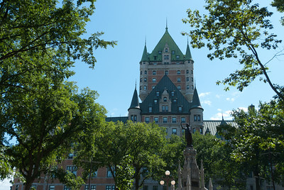 Chateau Frontenac facade in Quebec City, Quebec, Canada