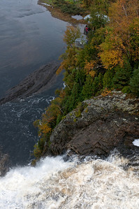 Rush of water from Montmorency Falls in Quebec City, Quebec, Canada