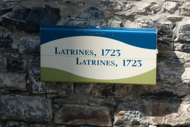 1723 latrines excavated at the château Saint-Louis Fort in Quebec, Canada