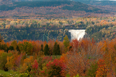 View of Montmorency Falls from afar - Quebec City, Canada