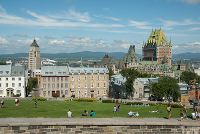 Chateau Frontenac towering above Quebec City, Quebec