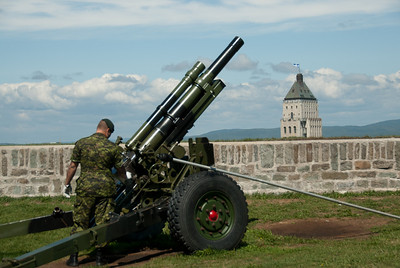Cannon at Citadelle in Quebec City, Quebec, Canada