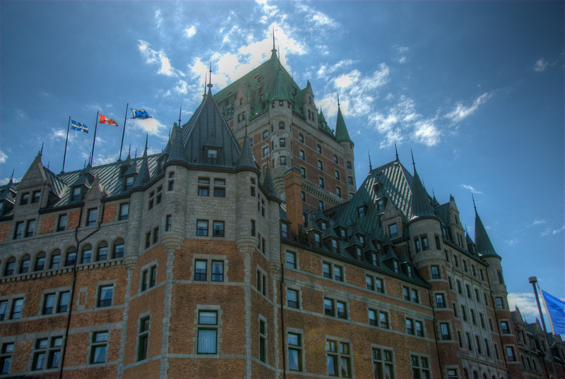Chateau Frontenac in Quebec City, Quebec, Canada
