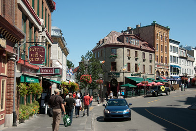 Street scene in Old Quebec, Quebec City, Canada