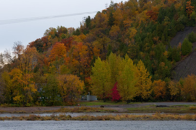 Montmorency River during fall in Quebec City, Quebec, Canada