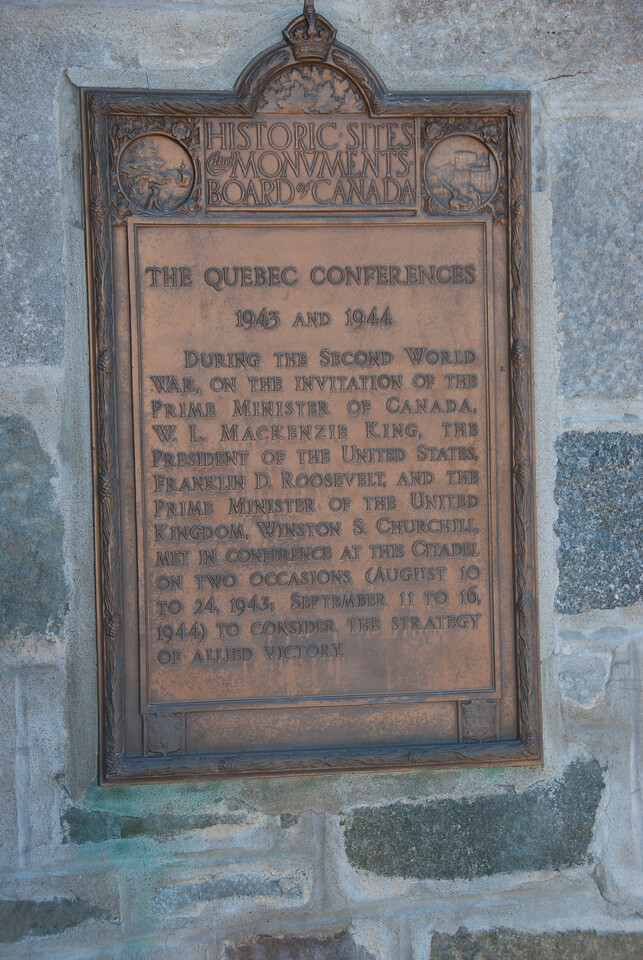 Commemorative plaque in Quebec City, Quebec, Canada