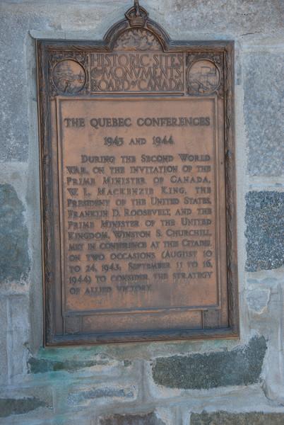 Commemorative plaque in Quebec City, Quebec, Canada
