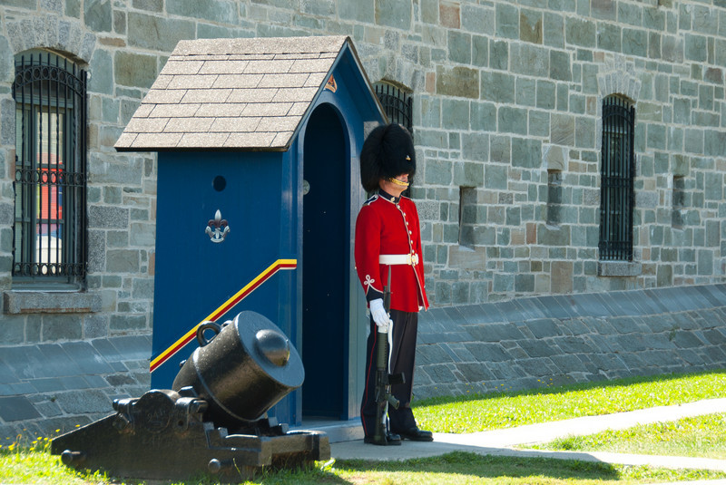 Guard at the Parliament Building in Quebec City, Quebec