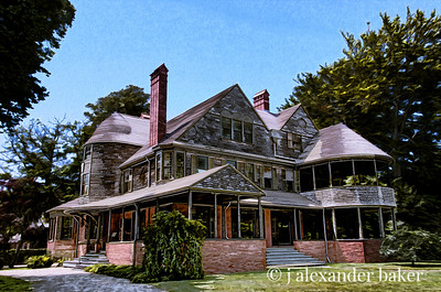 Isaac Bell House Photoshop Oil