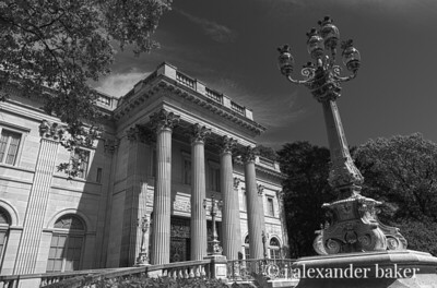 Marble House in Black and White