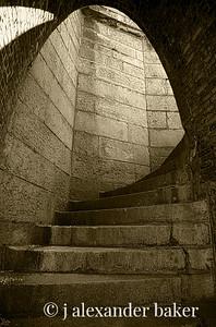 Circular stair, Ft. Adams, Newport, RI
