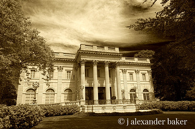 Marble House, Newport, RI in Sepia