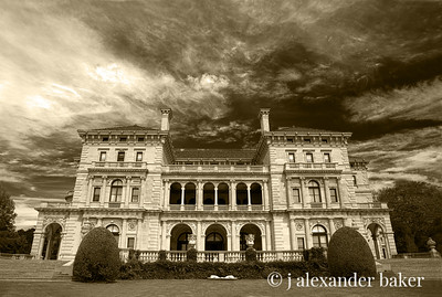 The Breakers in Sepia - without perspective lens correction