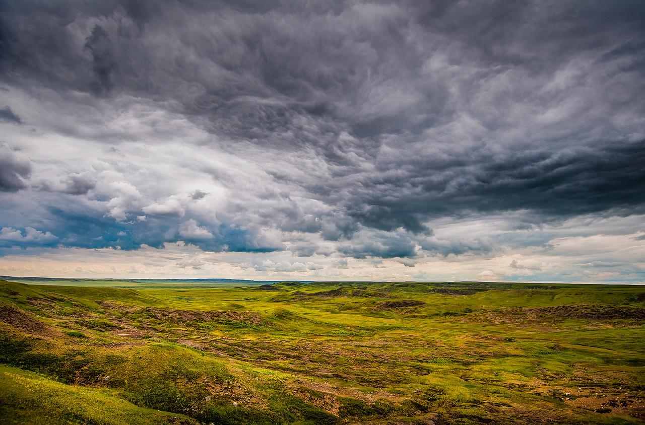 Landscape at Grasslands National Park in Saskatchewan, Canada
