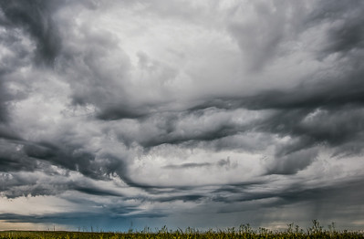 Dark clouds above Grasslands National Park in Saskatchewan, Canada