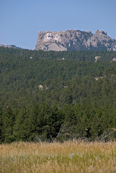 View of Mount Rushmore from afar - Black Hills, South Dakota