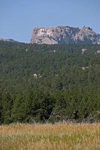View of Mount Rushmore from afar - Black Hills, South Dakota
