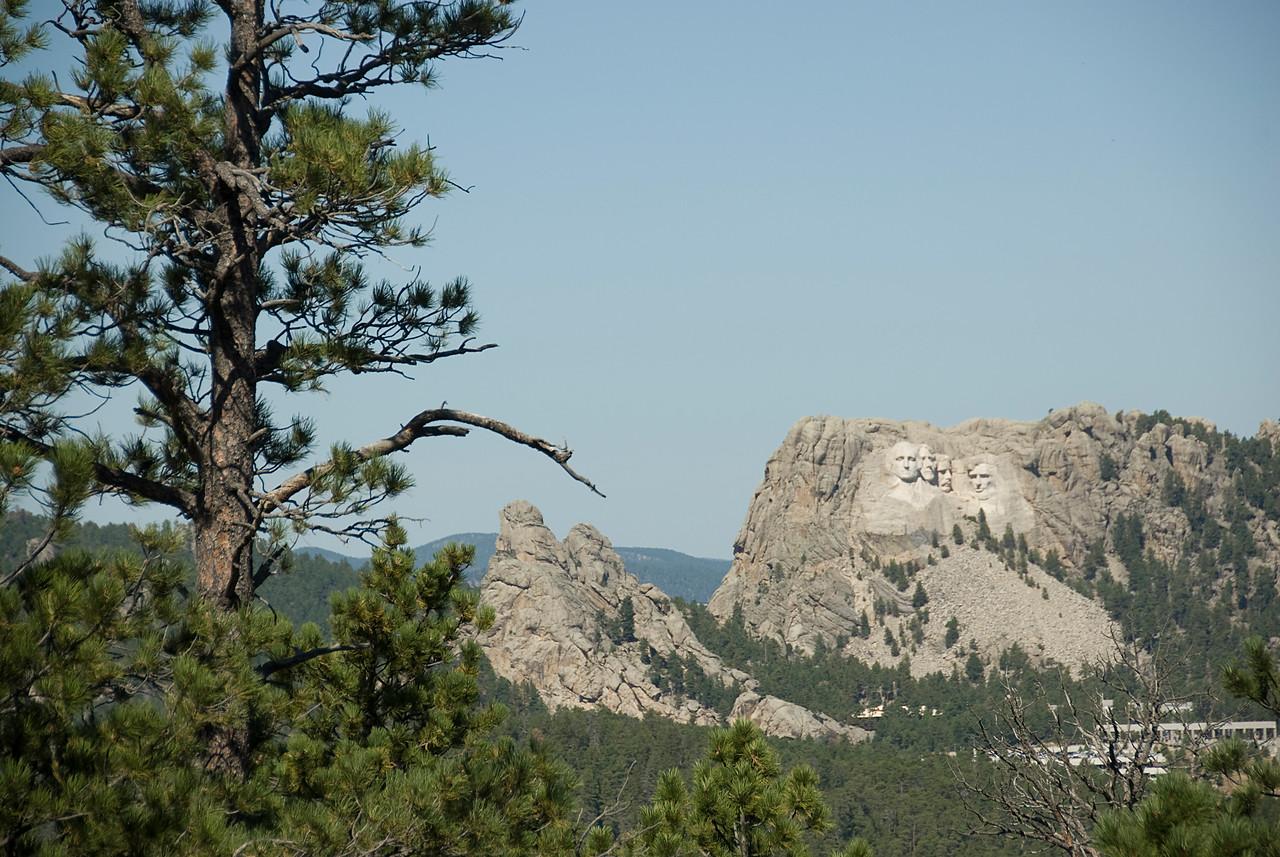 View of Mount Rushmore in Black Hills, South Dakota