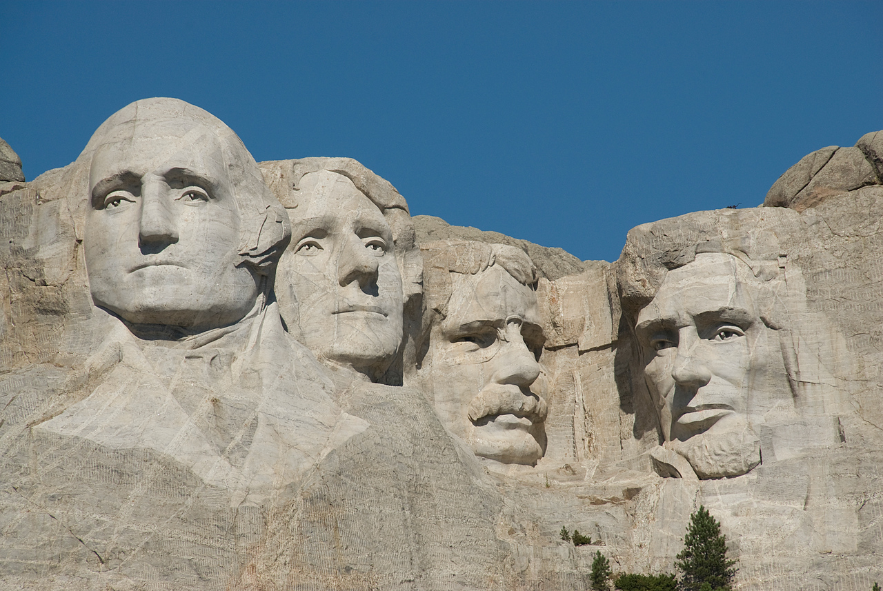 Sculptures in Mount Rushmore in Black Hills, South Dakota