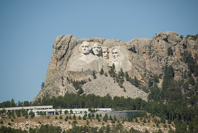 Sculptures at Mount Rushmore in Black Hills, South Dakota