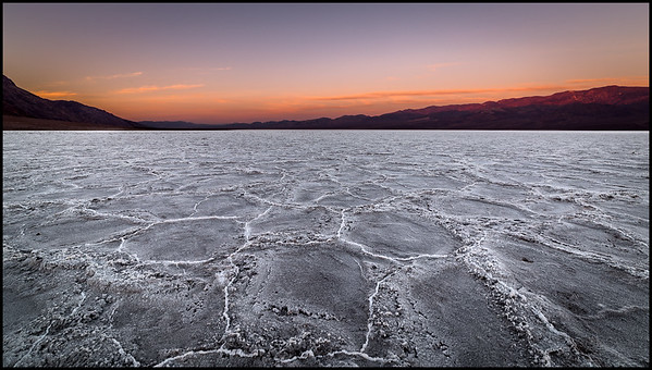 Badwater at sunrise, Death Valley NP