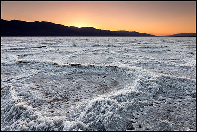 Badwater at sunset, Death Valley NP