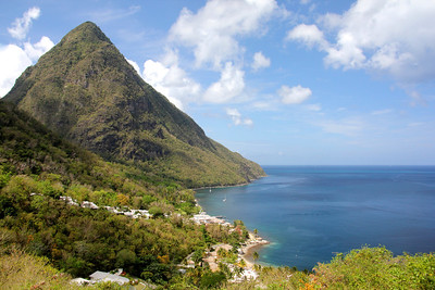 Gros Piton from Sugar Beach Hotel Soufriere, St. Lucia