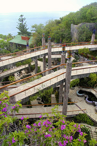 Walkways to the rooms at Jade Mountain Resort -St. Lucia