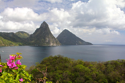 More stunning views from Jade Mountain Resort -St. Lucia