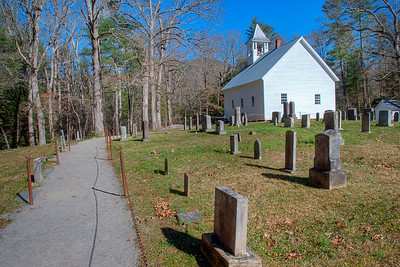 Little Cataloochee Church and Graveyard in the Great Smoky Mountains National Park
