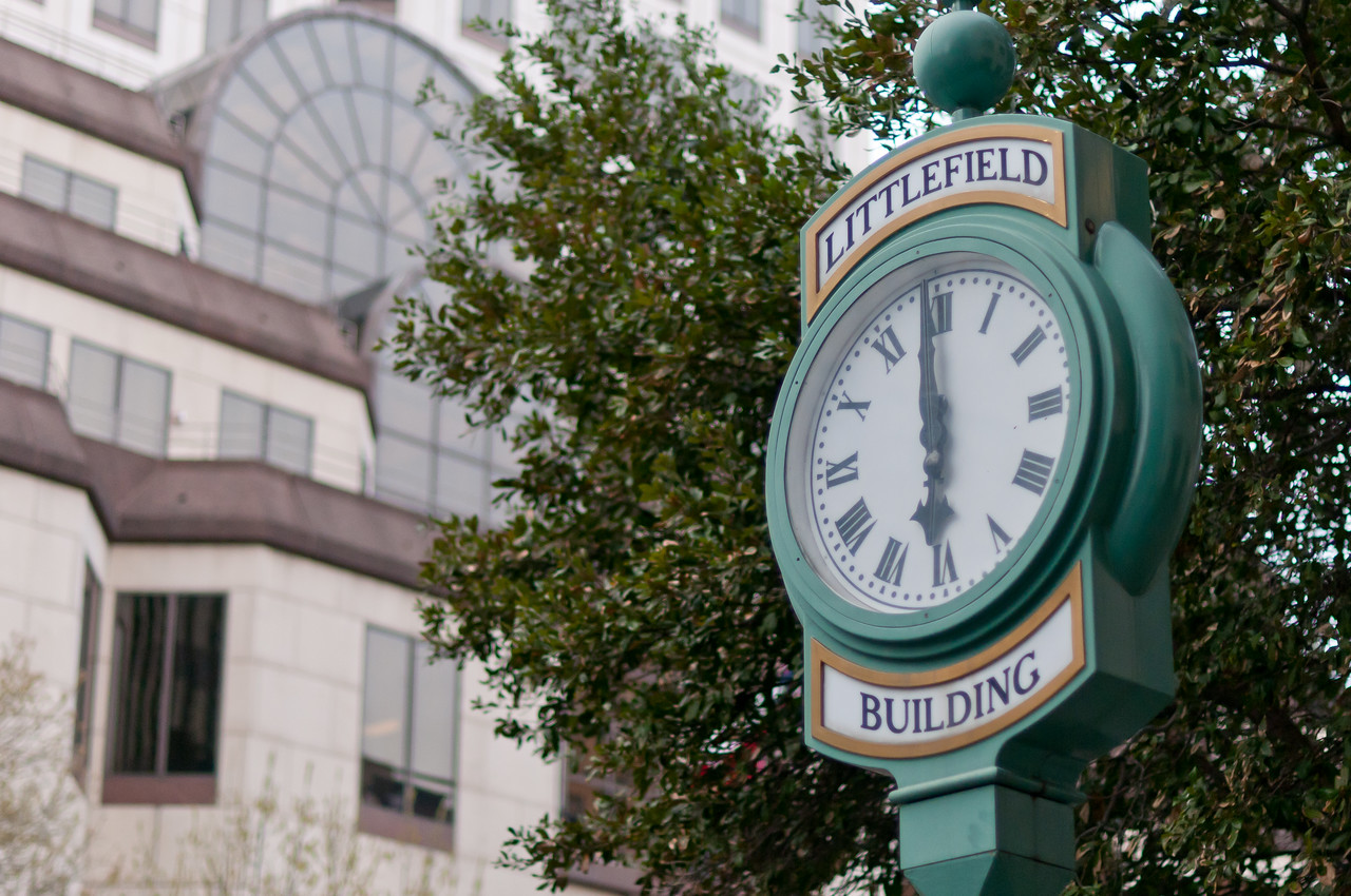 Littlefield Building Clock in Austin, Texas